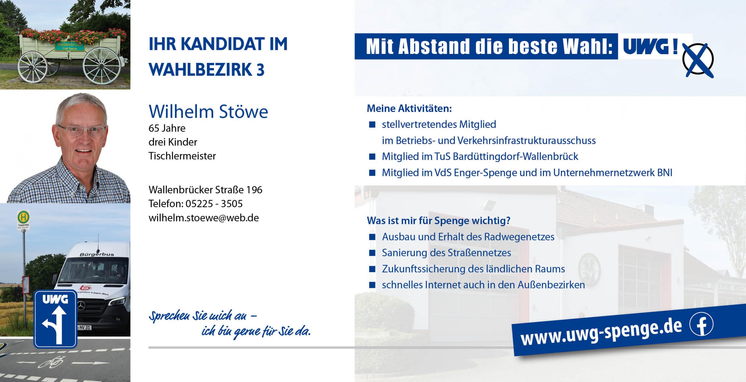 Kandidatenvorstellung Wilhelm Stöwe