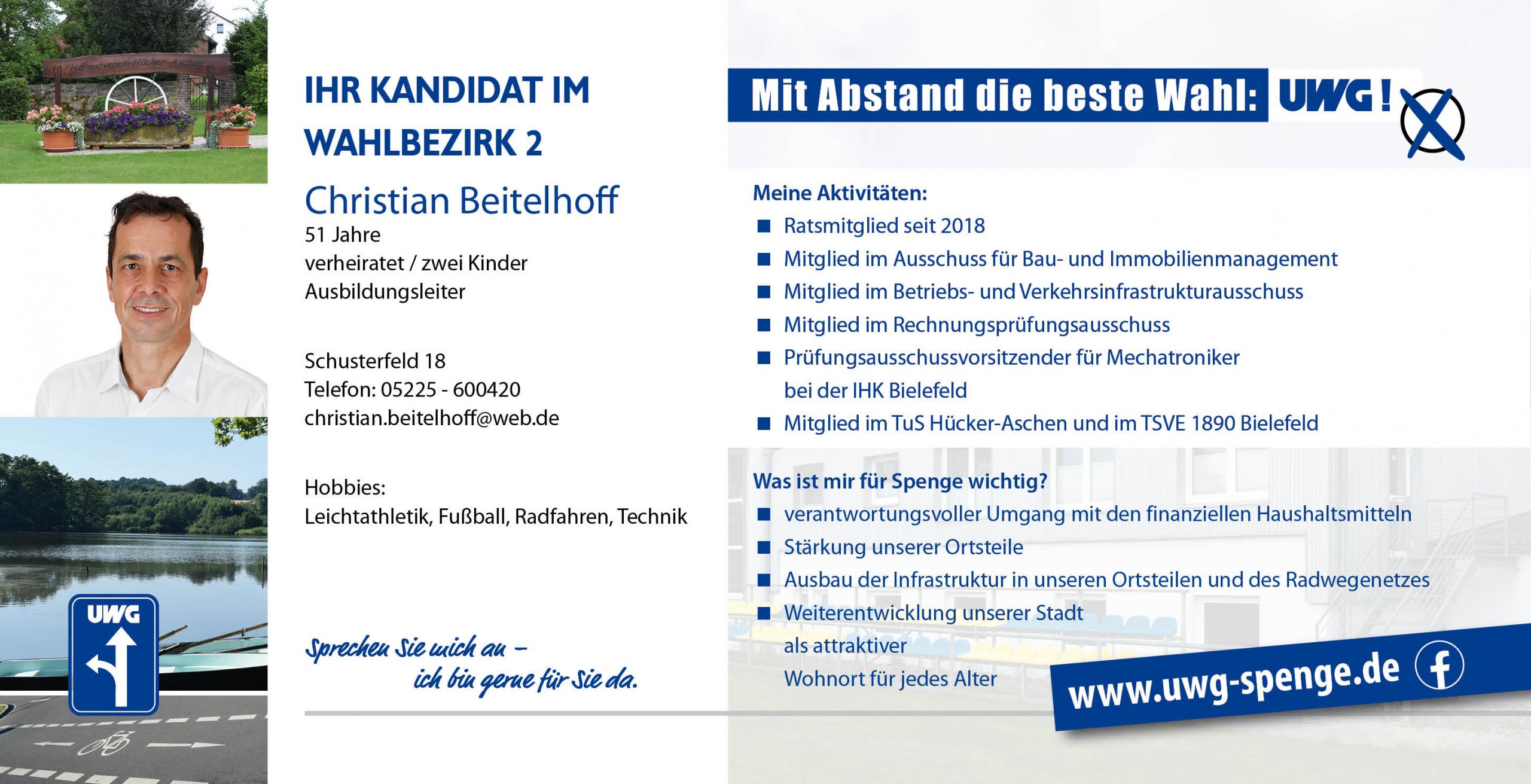 Kandidatenvorstellung Christian Beitelhoff