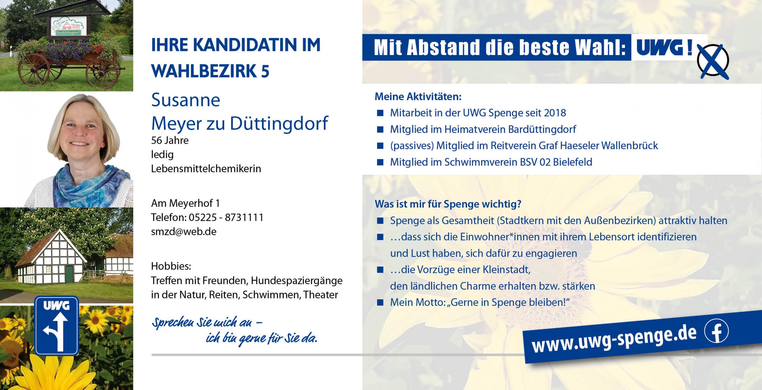 Kandidatenvorstellung Susanne Meyer zu Düttingdorf