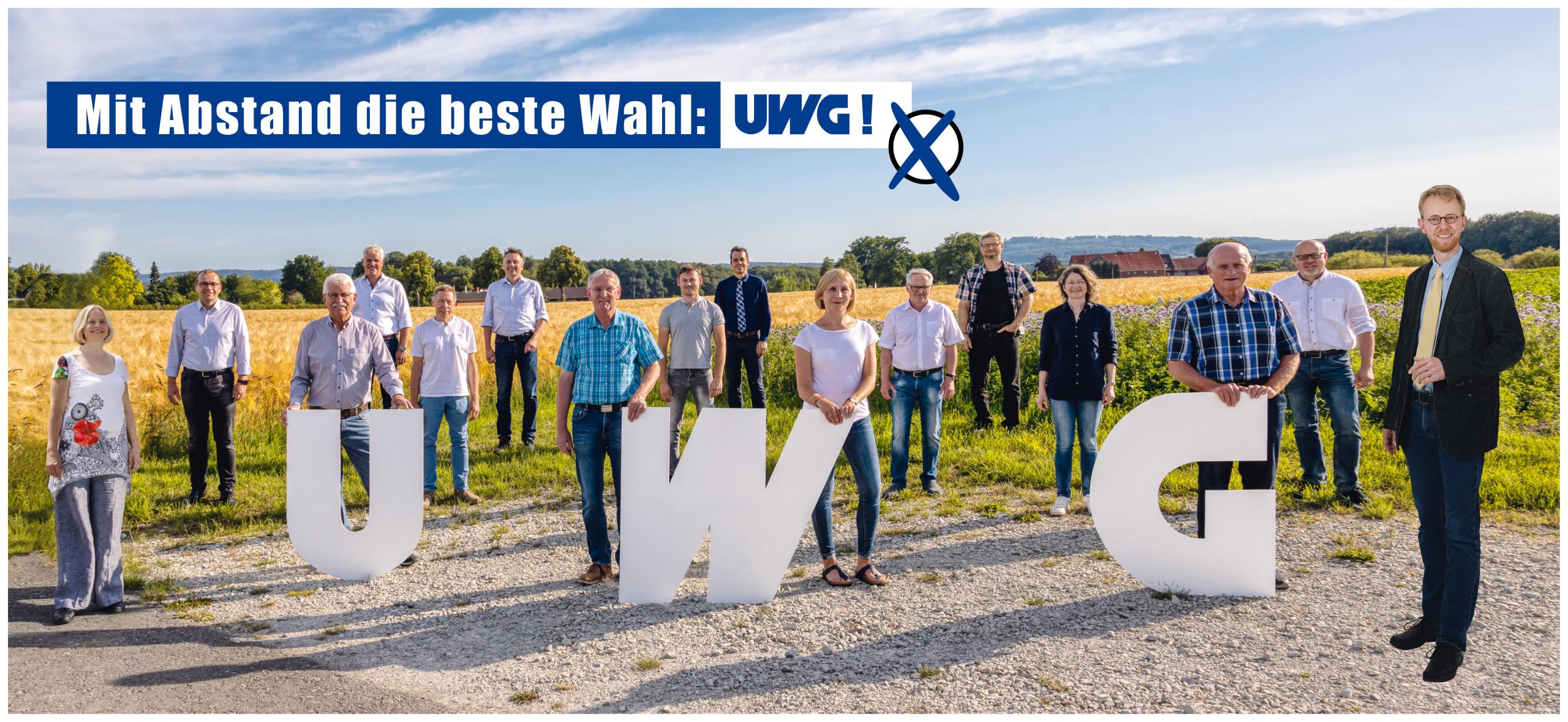 UWG Wahlplakat 2020